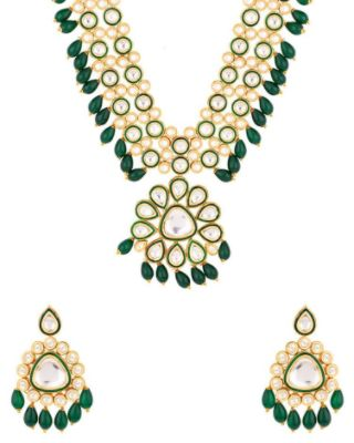 Nayaab Collection Polki Inspired Necklace Set