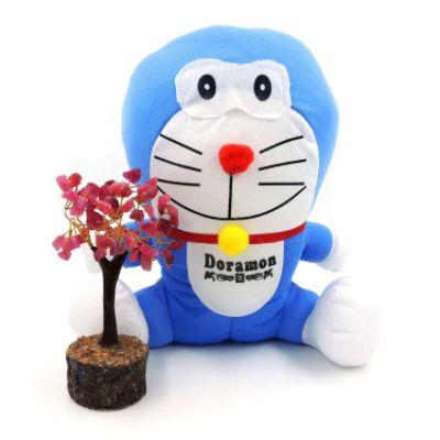 Satyamani Doramon Soft Toy Play Showpiece