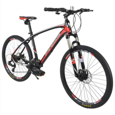 Finiss 26 Inch Bike SHIMANO 24-speed Shift Aluminum Alloy Frame Disk Brakes - Black/Red