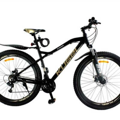 Kugel Blackburn 29 Inch Mountain Bike Aluminum Alloy Frame Material Shimano Gear Front Suspension and Disk Brakes - Black/Gold