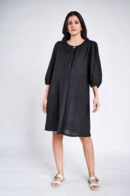Sustainable Black Maternity Knee Length Dress