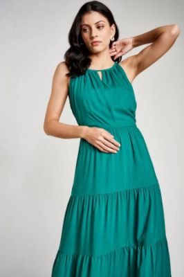 Sustainable Emerald Green Maxi Gown