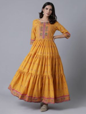 Printed Tiered Ethnic Dress