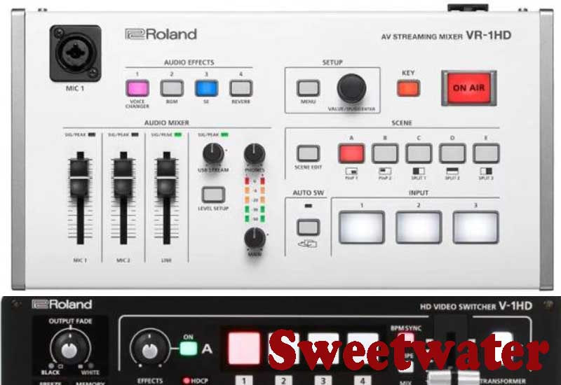 5 Best Selling Roland Video Mixers from Sweetwater