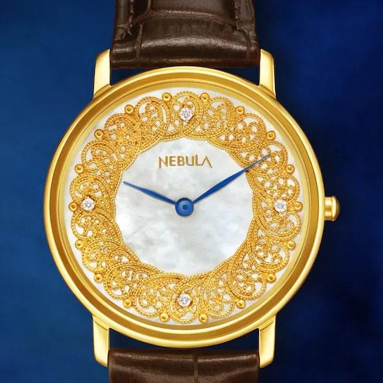 Filigree by Nebula - 18 Karat Solid Gold Analog Watch