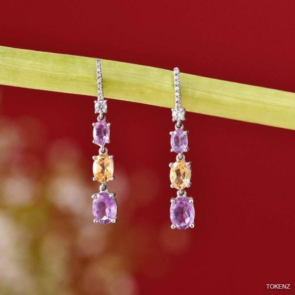 Gorgeous Amethyst Citrine Affinity Earrings