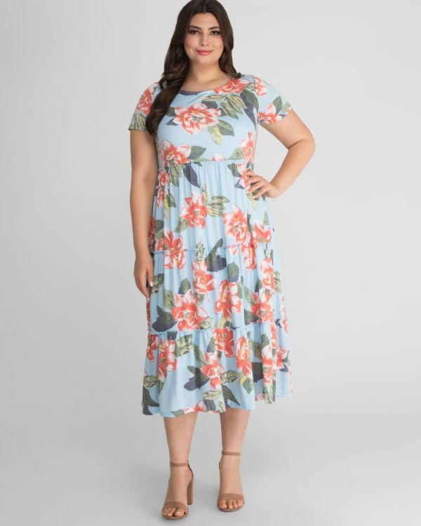 Tara Floral Plus Size Maxi Dress