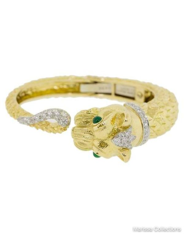 DAVID WEBB - Lion Diamond Bracelet