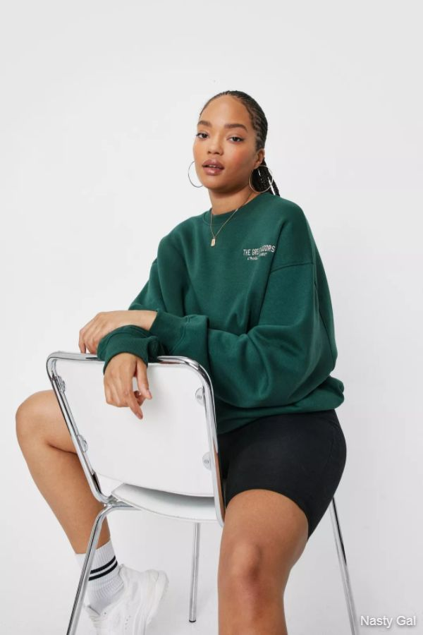 Plus Size The Great Indoors Embroidered Sweatshirt