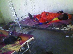 प्राथमिक स्वास्थ्य केन्द्र में डायरिया के मरीज