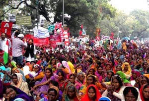 26-02-15 Desh Videsh - Land Acqusition Dharna