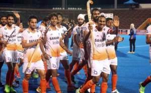 मैच के बाद जश्न मनाती भारतीय जूनियर हाॅकी टीम  (फोटो साभार-एनडीटीवी)