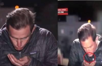 Reporter, Ali Velshi, Matt Bradley, spit, Live