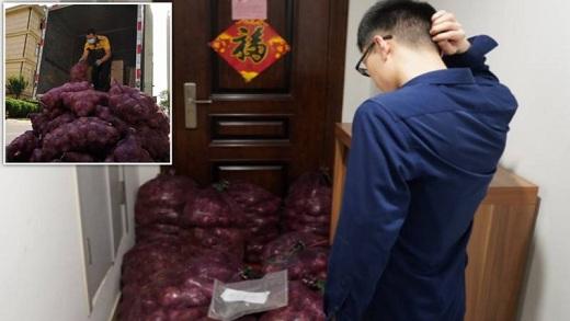 Chinese woman, truckload, onions, ex- boy friend