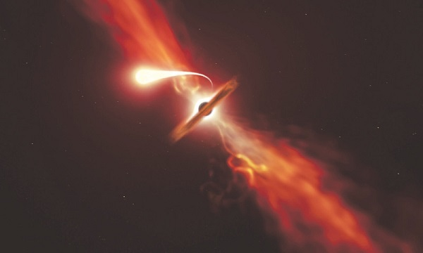 Supermassive black hole, Sun, star
