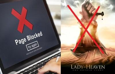 PTA, block content, sacrilegious film, Lady of Heaven, PTA Lady in Heaven