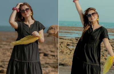 Dananeer Mobeen, beach photoshoot, TikTok