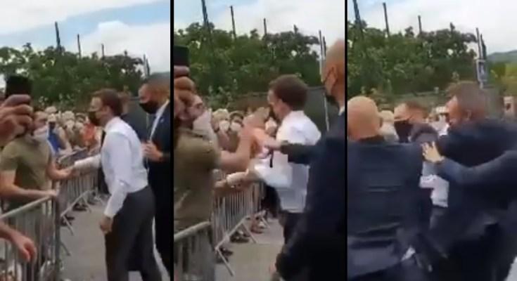 French President, Emmanuel Macron, slap, France, Macron slapped