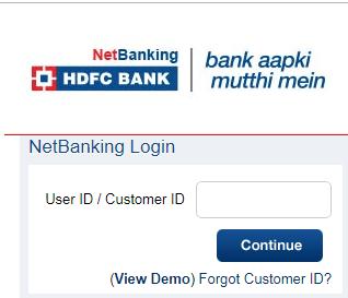 HDFC Debit Card Pin Generate