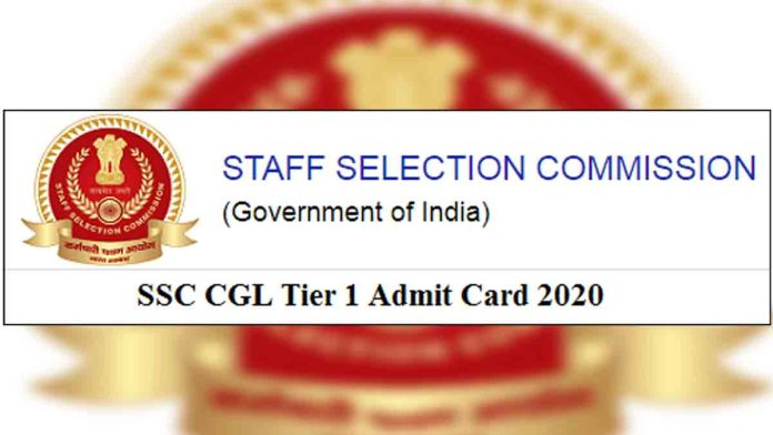 SSC CGL Tier 1 Admit Card 2020 Download
