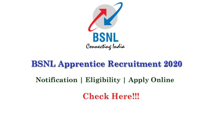 BSNL Recruitment 2020