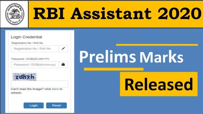 RBI Assistant Score Card 2020 Out