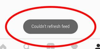 Instagram Notification couldn't refresh feed - Solution - Fixed