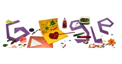 جوجل Google يحتفل بعيد الأم على طريقته
