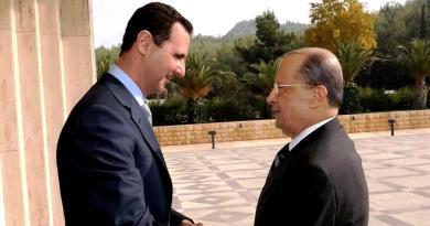 الرئيس اللبناني ميشال عون اتصل بالرئيس السوري بشار الأسد