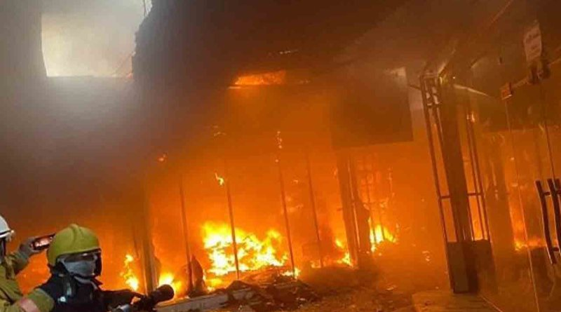 حريق كبير في العاصمة بغداد داخل الجامعة التكنولوجية