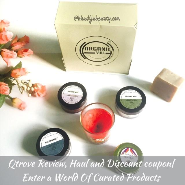 Qtrove review, haul, coupon discount, khadija beauty