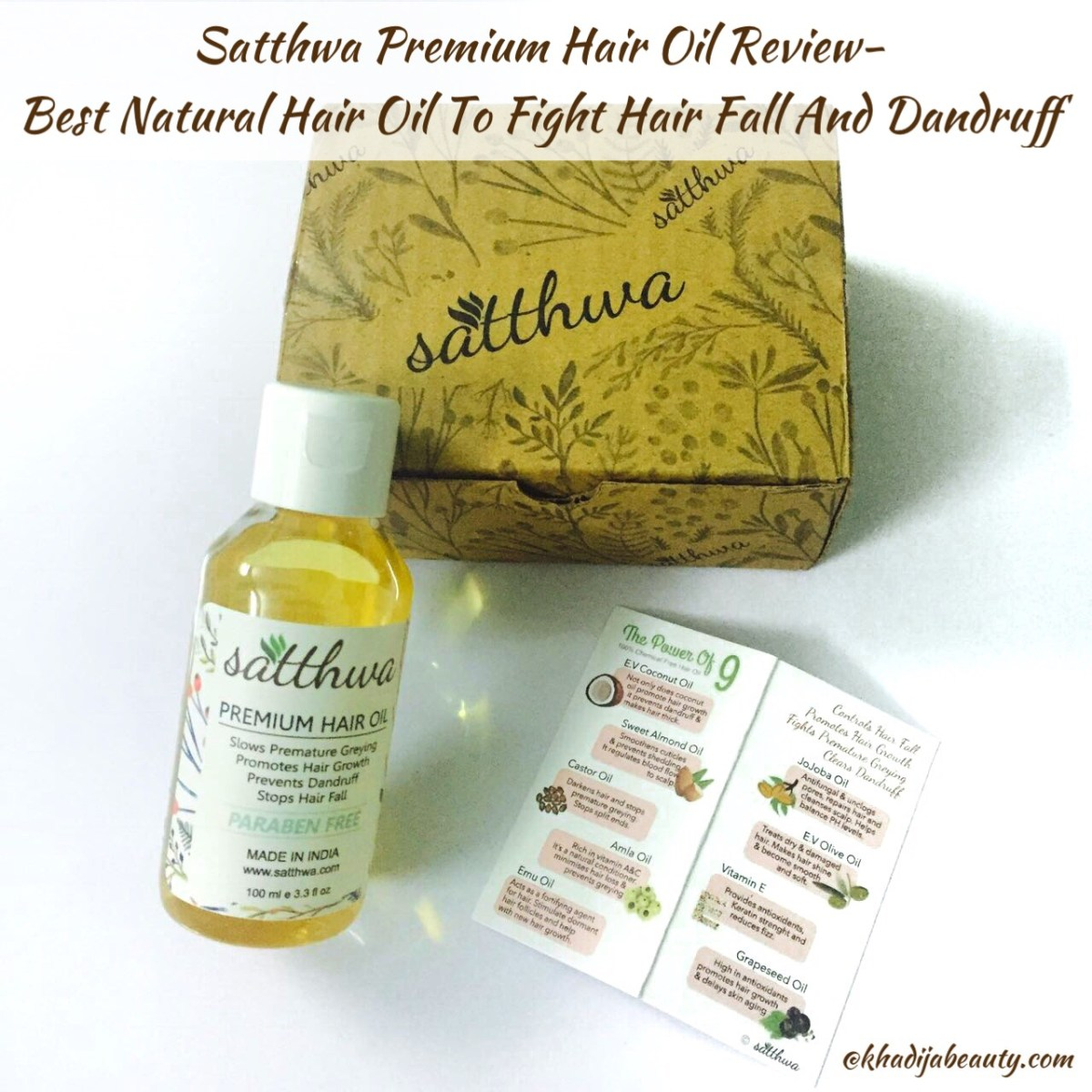Satthwa Premium Hair Oil Review| Best hair oil for hair fall and dandruff
