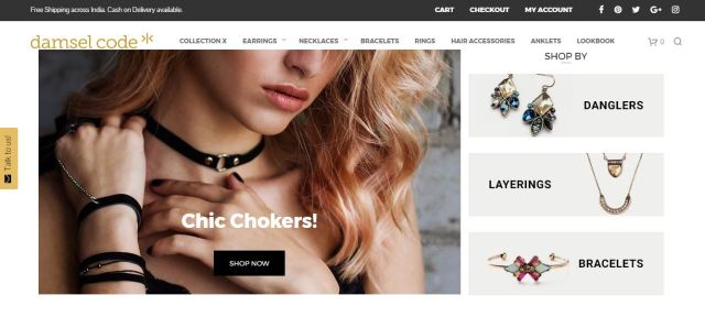 damsel code review, buy fashion jewellery in India, khadija beauty