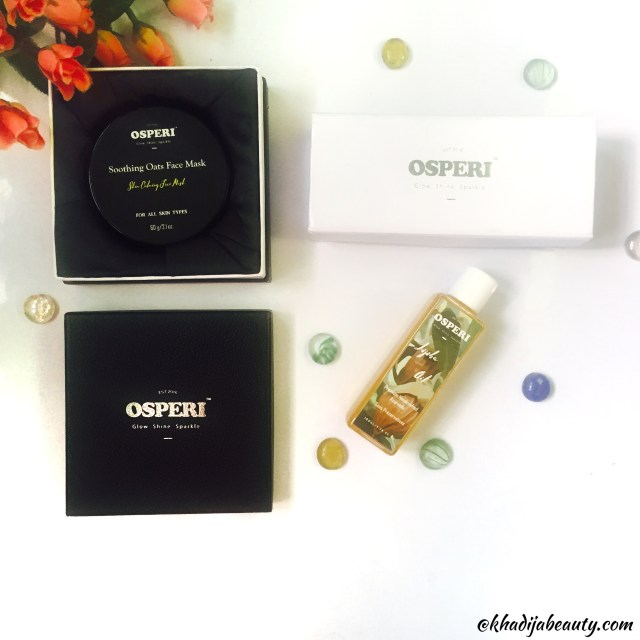 Osperi review, khadija beauty, best cleanser for oily skin, best oil for face, best cleanser for dry skin