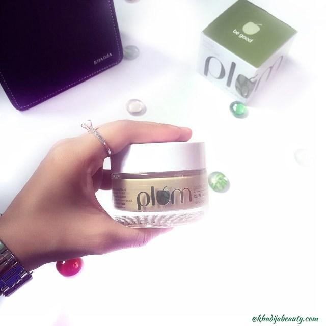 Plum green tea clear face mask, khadija beauty