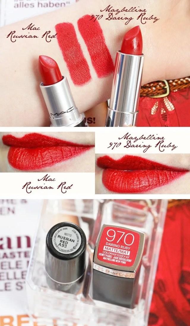 affordable Mac lipstick dupes, mav russian red dupes, khadija beauty
