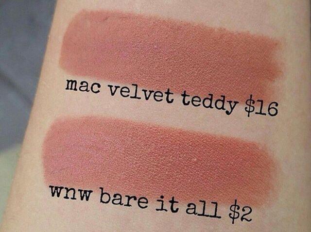 Mac Affordable Mac lipstick dupes, Mac velvet teddy dupes, khadija beauty