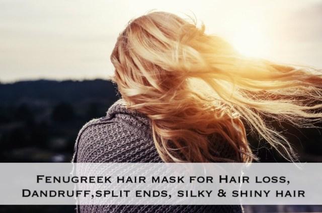fenugreek hair mask for hair growth, dandruff khadija beauty