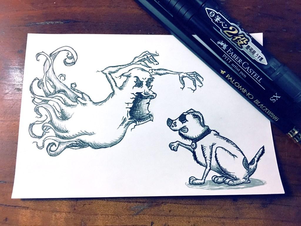 Inktober – Ghost & Dog