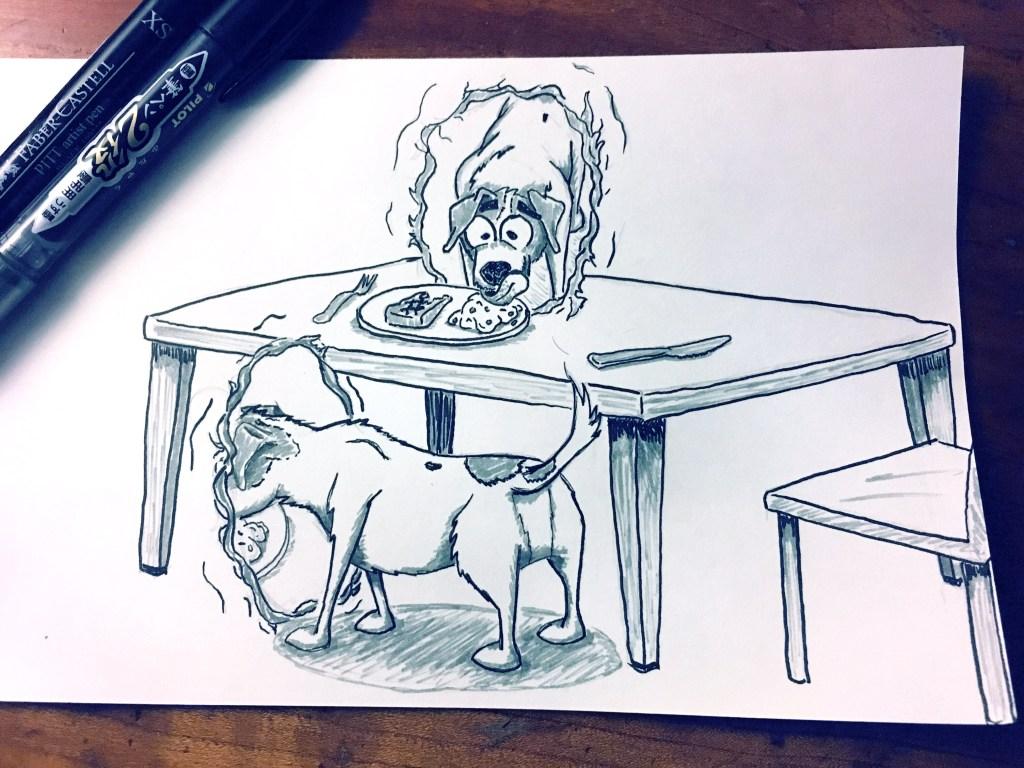 "inktober ""Transport"" Theme – Dog"