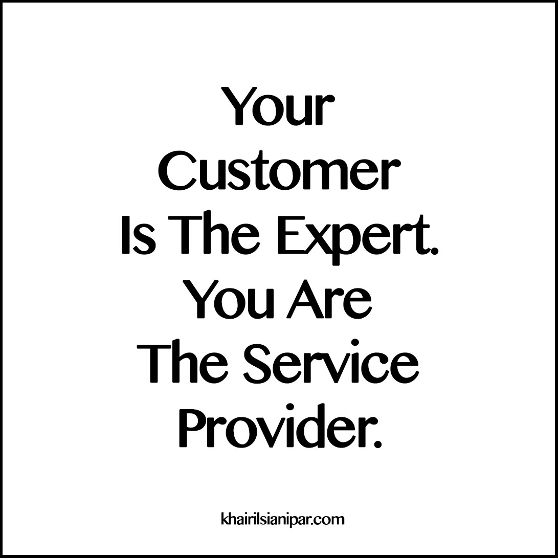 #SDR 1254: Your Customer Is The Expert. You Are The