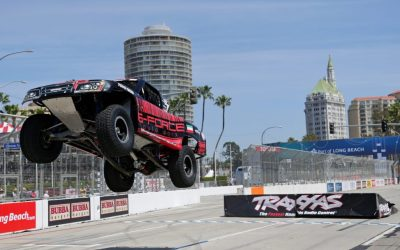 Fearless race ace Khaled debuts in Stadium Super Trucks at Long Beach
