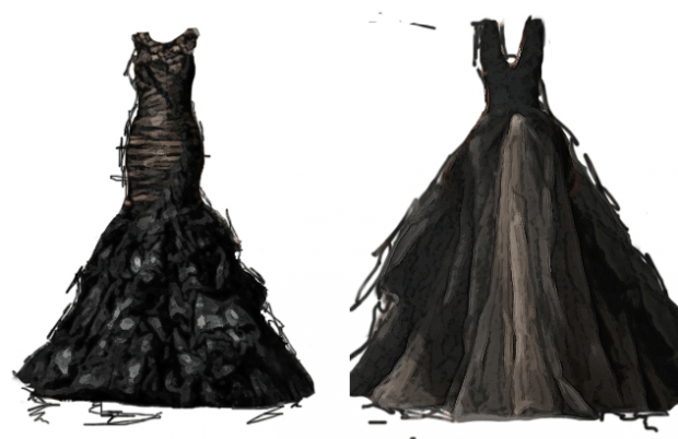 The Story Behind Black Wedding Dresses
