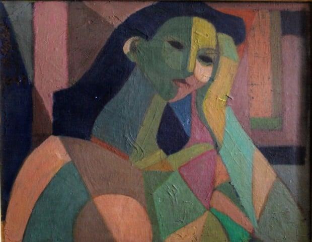 Ahmad Morsi, Untitled, 1951. Oil on wood, 52 x 42 cm. Image courtesy of Sharjah Art Foundation.