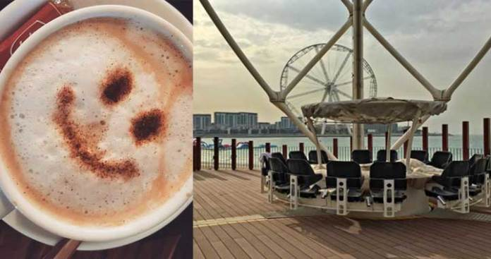 A new Sky-High Cafe 'Flying Cup' has Opened in Dubai