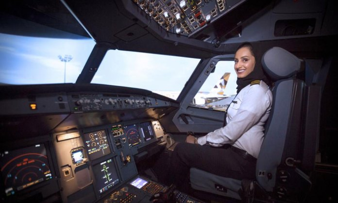 The first Emirati female pilot who flies world largest aircraft A380
