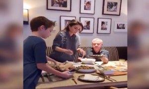 King Abdullah and Queen Rania of Jordan share their family iftar on social media