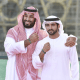 Shaikh Hamdan and Prince Mohammad expo 2020 site
