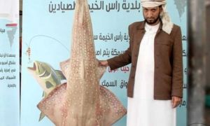 Local Fisherman catches Massive Suss Fish in Ras al Khaimah
