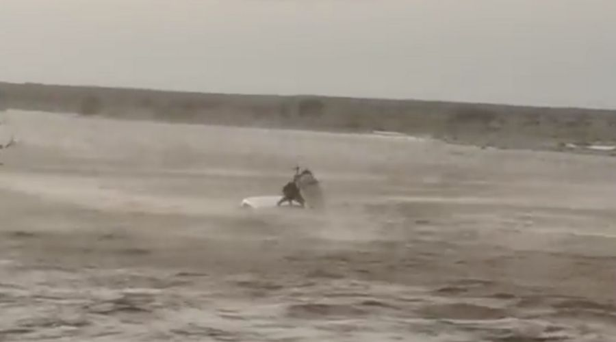 ROP Rescue Video of a Motorist stuck in Flood